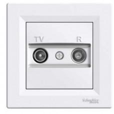 Schneider Electric Asfora - zásuvka TV-R, koncová - 1 dB - bílá