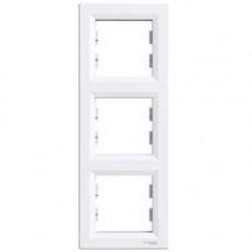 Schneider Electric Asfora - Rámeček trojnásobný vertikální - bílá