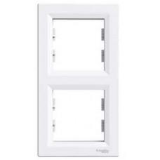 Schneider Electric Asfora - Rámeček dvojnásobný vertikální - bílá