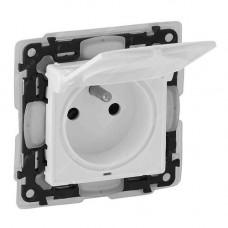 LEGRAND Valena Life zásuvka 1-násobná IP44 s klapkou bílá