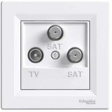 Schneider Electric Asfora - Zásuvka TV-SAT-SAT, koncová - 1 dB - bílá