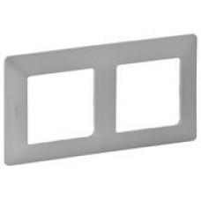 LEGRAND Valena Life rámeček 2-násobný hliník
