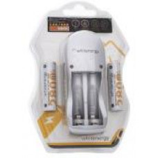 WHITENERGY WE Nabíječka pro 2 baterie AA/AAA + 2xAA 2800mAh