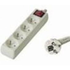 PREMIUMCORD Prodlužovací přívod 230V, 5m, 4 zásuvky + vypínač