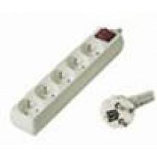PREMIUMCORD Prodlužovací přívod 230V, 2m, 5 zásuvek + vypínač