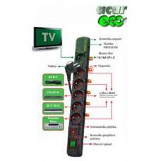 ACAR Rozvodný panel ACAR ECO 6x220V černý přep.ochrana