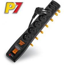 ACAR Rozvodný panel ACAR P7/3m 5+2x220V černý+přep.ochr