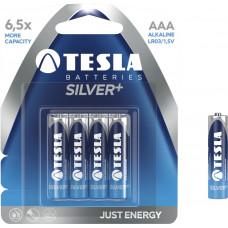 TESLA - baterie AAA SILVER+, 4ks, LR03