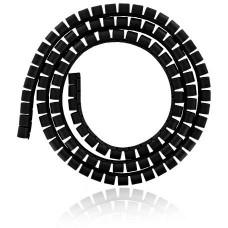 4WORLD 4W Organizér kabelů 34MM 1,5m černý