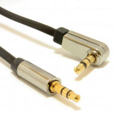 GEMBIRD 3.5 mm stereo jack, 1,8 m, M/M, 90° lomený konektor