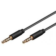 PREMIUMCORD Kabel Jack 3.5mm 4 pinový M/M, 2m