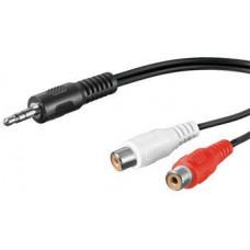 PREMIUMCORD Kabel Jack 3.5mm-2xCINCH M/F 1,5m
