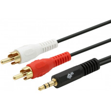 TB TOUCH Cable 3,5mm Mini Jack -2x RCA M/M 2,5m