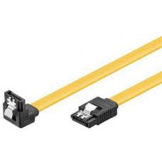 PREMIUMCORD 0,2m SATA 3.0 datový kabel, 6GBs, kov.západka, 90°