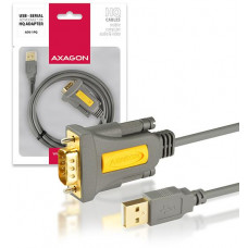 AXAGON ADS-1PQ, USB2.0 - sériový RS232 DB9 FTDI adaptér / kabel 1,5m