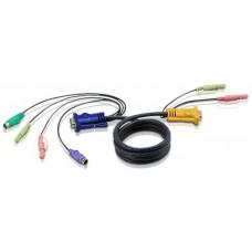ATEN KVM sdruž. kabel k CS-1732,34,54 PS/2, 1,8m