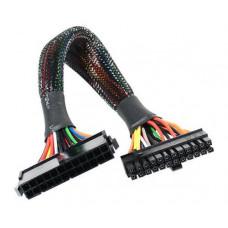 AKASA Prodlužovací kabel 24 pin(M) na 20+4 pin(F) - 30cm