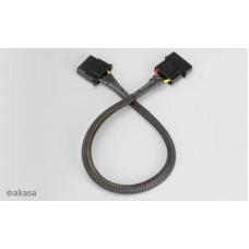 AKASA - 4-pin molex - 30 cm prodlužovací kabel