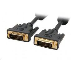C-TECH Kabel C-TECH  přípojný  DVI-DVI, M/M,  1,8m DVI-D, dual link