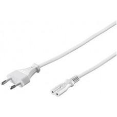 PREMIUMCORD Kabel síťový 230V k magnetofonu 3m, bílý