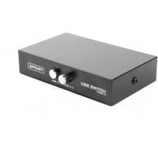 GEMBIRD Datový přepínač  2:1 manual USB