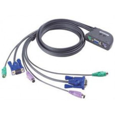 ATEN 2-port KVM PS/2 mini, 1.2m kabely