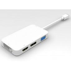 PREMIUMCORD  adaptér mini DisplayPort  -  DP + HDMI + DVI + VGA , 1080p, 4K*2K