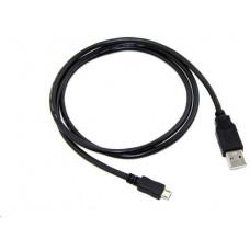 C-TECH Kabel C-TECH USB 2.0 AM/Micro, 1m, černý