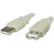 PREMIUMCORD USB 2.0 kabel prodlužovací, A-A, 3m