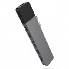 HYPER rive NET Hub for USB-C pro MacBook Pro -Gray