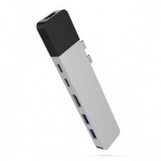 HYPER rive NET Hub for USB-C pro MacBook Pro - Sil