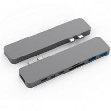 HYPER rive PRO USB-C Hub pro MacBook Pro - Gray