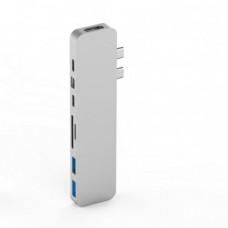 HYPER rive PRO USB-C Hub pro MacBook Pro - Silver