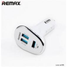 REMAX autoadaptér 6,3 A - bílá barva
