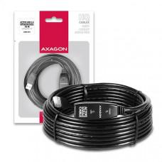 AXAGON ADR-210, USB2.0 aktivní prodlužovací / repeater kabel, 10m