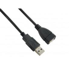 4WORLD Kabel USB 2.0 AM-AF 5.0m Black