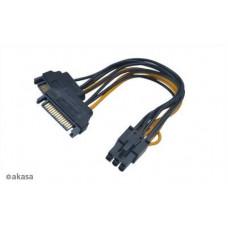 AKASA SATA adaptér 2 x SATA na 6pin PCIe