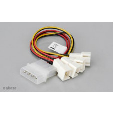 AKASA - 4-pin CPU Molex na 4 x 3-pin fan