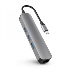 HYPER rive 6-in-1 USB-C Hub with 4K HDMI - Gray
