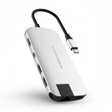 HYPER rive SLIM USB-C Hub - Střibrný