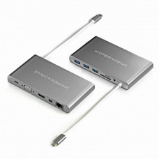 HYPER rive Ultimate USB-C Hub - Space Gray