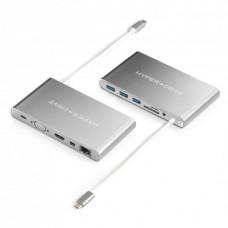 HYPER rive Ultimate USB-C Hub - Stříbrný