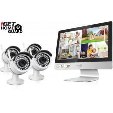 IGET HGNVK49004 - CCTV bezdrátový WiFi set HD 960p s LCD displejem 12