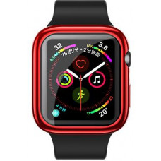 USAMS BH486 TPU Full Protective Pouzdro pro Apple Watch 44mm Red