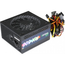 EVOLVEO RX 500, zdroj 500W ATX, RGB rainbow vent. 14cm, tichý, 80+, bulk