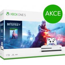 MICROSOFT AKCE: XBOX ONE S 1 TB + Battlefield V - akční cena (+ dárek: hra State of Decay ZDARMA)