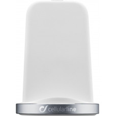 CELLULARLINE WIRELESS FAST CHARGER STAND, bílý