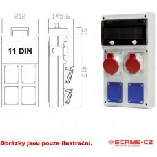 ABB Zásuvková skříň 2x230V,1x400V/32A, jističe,chránič