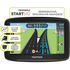 TOMTOM START 42 Europe, LIFETIME mapy