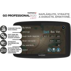 TOMTOM GO Professional 620 EU, Wi-Fi, LIFETIME mapy